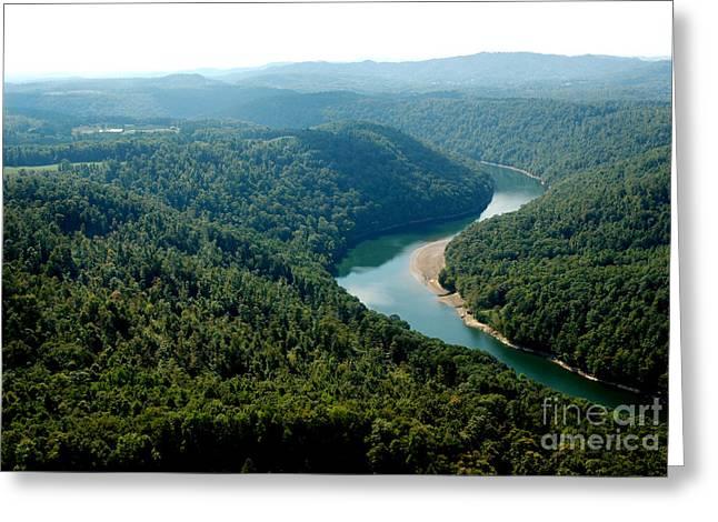 Nicholas Greeting Cards - Aerial View Gauley River Greeting Card by Thomas R Fletcher