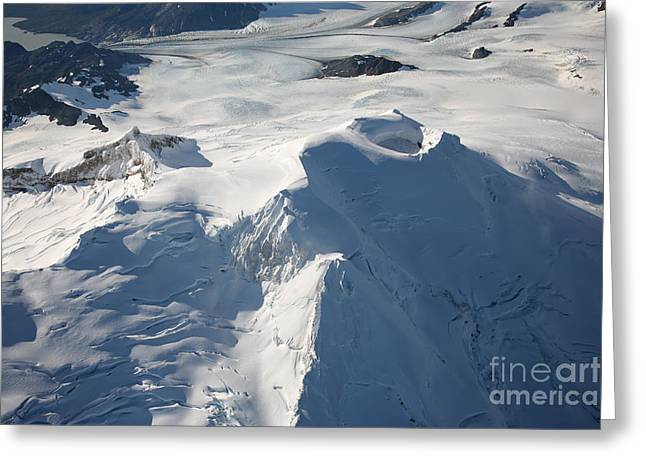 Crater Lake View Greeting Cards - Aerial View Of Glaciated Mount Douglas Greeting Card by Richard Roscoe