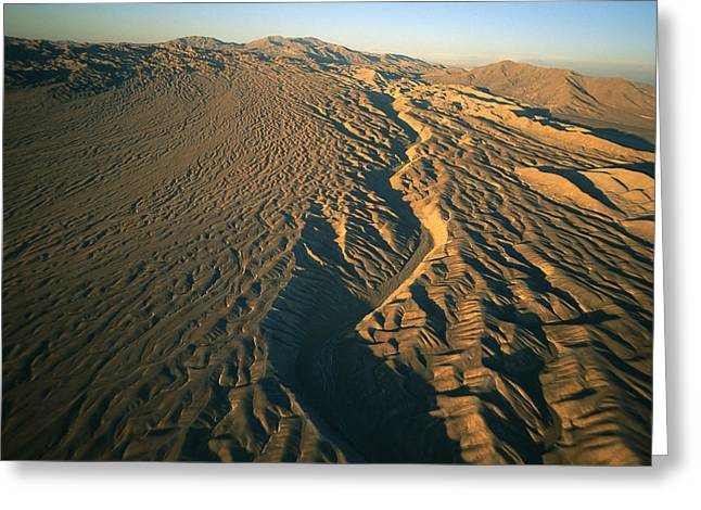 Patterns In Nature Greeting Cards - Aerial View Of The Atacama Desert Greeting Card by Joel Sartore