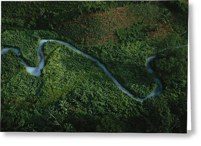 Aerial View Of The El Almandro Tinted Greeting Card by Stephen Alvarez
