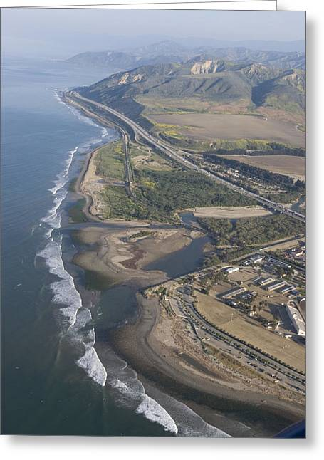 Emma Greeting Cards - Aerial View Of Ventura Point, Ventura Greeting Card by Rich Reid
