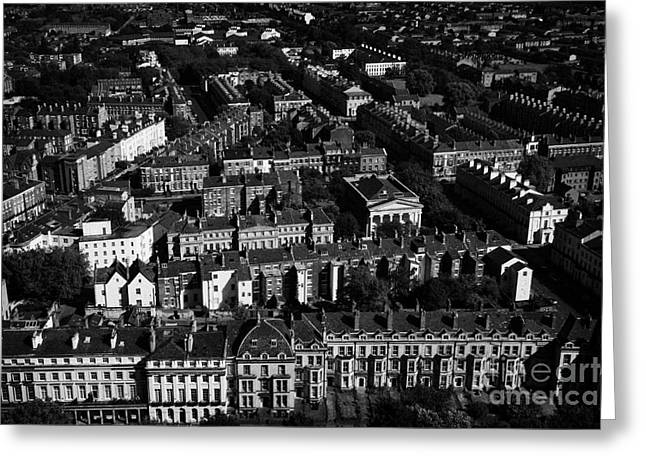 Urban City Areas Greeting Cards - Aerial View Over The Georgian Areas Of The City Of Liverpool Merseyside England Uk Greeting Card by Joe Fox