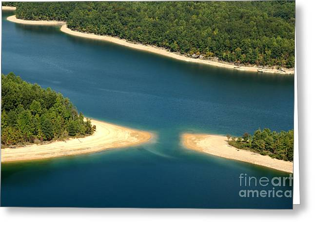 Nicholas Greeting Cards - Aerial View Summersville Lake Greeting Card by Thomas R Fletcher