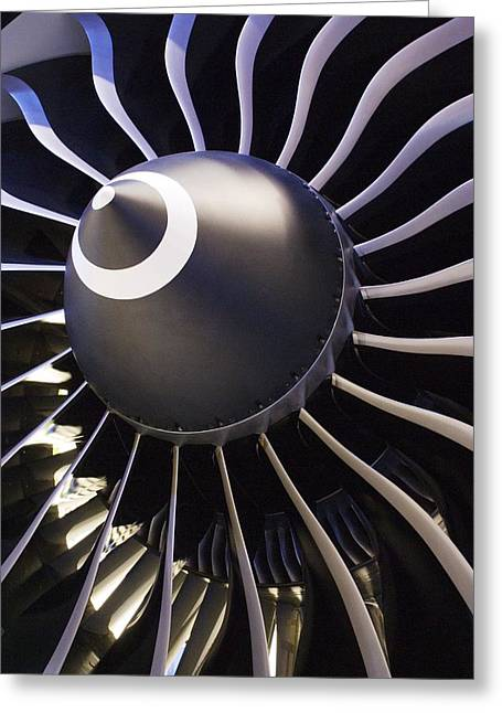Intake Greeting Cards - Aeroplane Engine Greeting Card by Mark Williamson