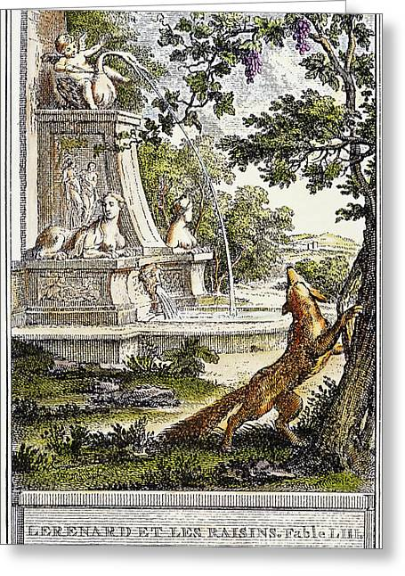 Fabled Greeting Cards - Aesop: Fox & Grapes, 1761 Greeting Card by Granger
