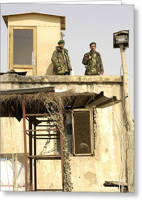 Urban Warfare Greeting Cards - Afghanistan National Army Soldiers Greeting Card by Stocktrek Images