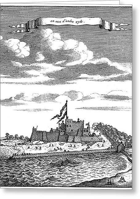 1704 Greeting Cards - Africa: El Mina Fortress Greeting Card by Granger