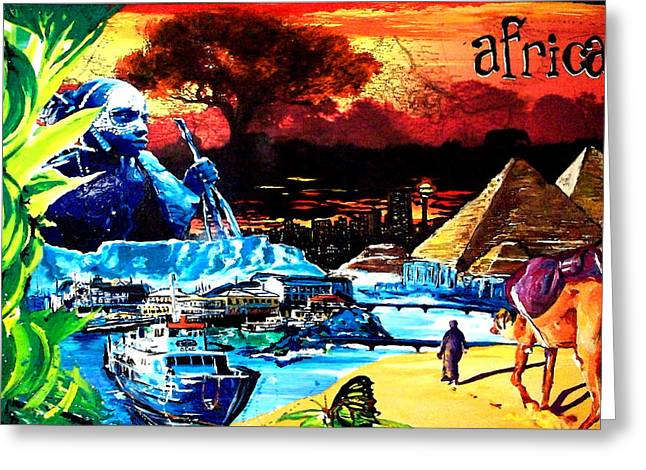 Cape Town Mixed Media Greeting Cards - Africa Greeting Card by Gerald Herrmann
