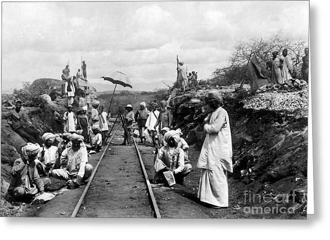1900s Greeting Cards - AFRICA: RAILWAY, c1905 Greeting Card by Granger