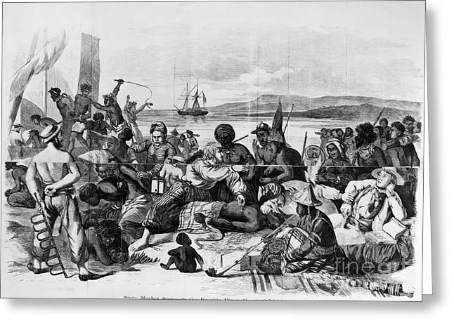 Biard Greeting Cards - AFRICA: SLAVE TRADE, c1840 Greeting Card by Granger