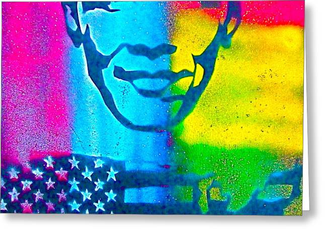 African-American Obama Greeting Card by TONY B CONSCIOUS