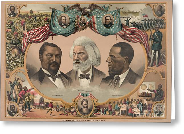 Douglass Greeting Cards - AFRICAN AMERICANS, c1881 Greeting Card by Granger