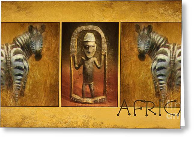 Living World Greeting Cards - African Greeting Card by Angela Doelling AD DESIGN Photo and PhotoArt