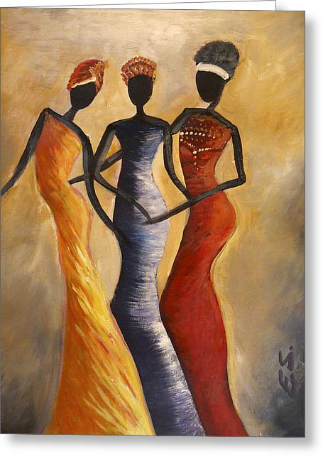 African Woman Greeting Cards - African queens Greeting Card by Evon Du Toit