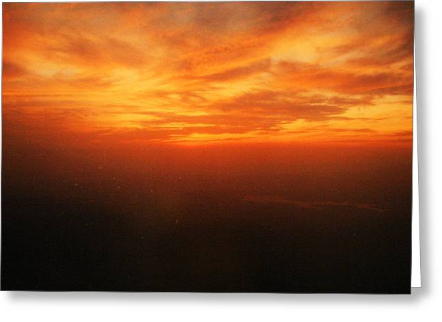 A Summer Evening Photographs Greeting Cards - African sky Greeting Card by Kehinde Thompson