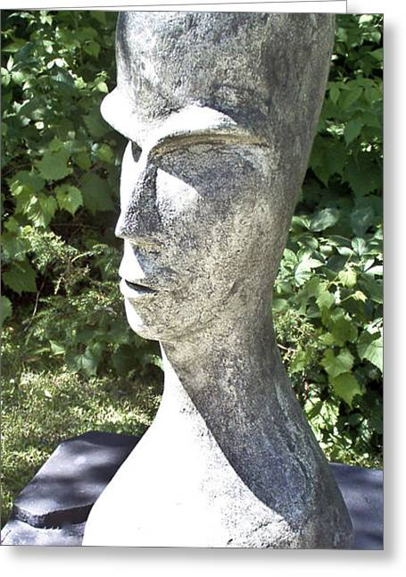 African Sculptures Greeting Cards - African Woman Greeting Card by Michael Rutland