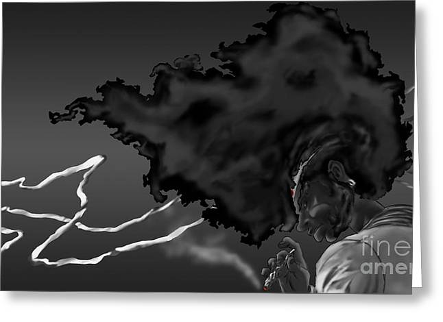 Samuel L Jackson Greeting Cards - Afro Samurai Greeting Card by Bartlomiej Bogacz