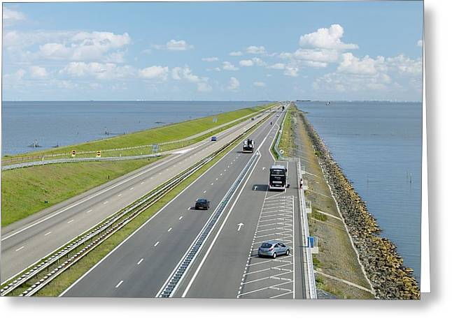 North Sea Greeting Cards - Afsluitdijk Dike, Netherlands Greeting Card by Colin Cuthbert