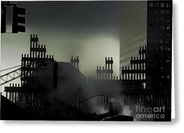 Wtc 11 Greeting Cards - After 911 Greeting Card by Chuck Kuhn