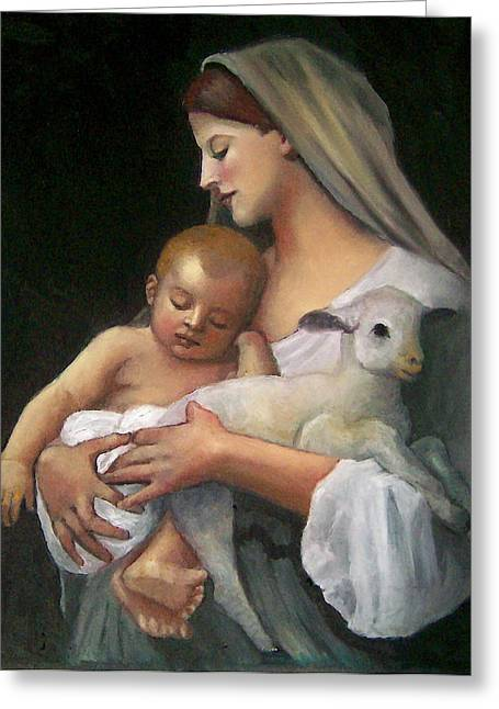 Bible Pastels Greeting Cards - After Bouguereau Greeting Card by Joyce Geleynse