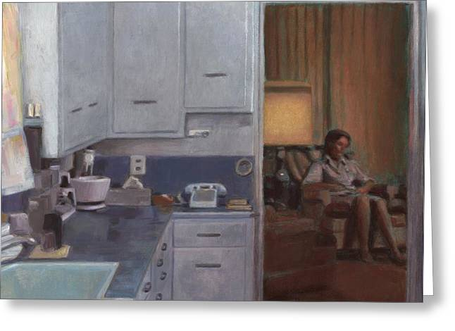 Home Appliance Greeting Cards - After Dinner Greeting Card by David Clemons