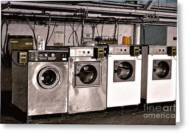 After Enlightenment The Laundry. Greeting Card by Gwyn Newcombe