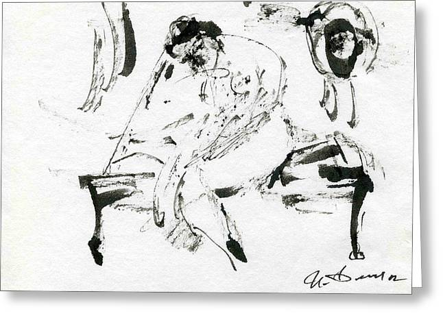 Ballet Dancers Drawings Greeting Cards - After Performance Greeting Card by Ivan Filichev