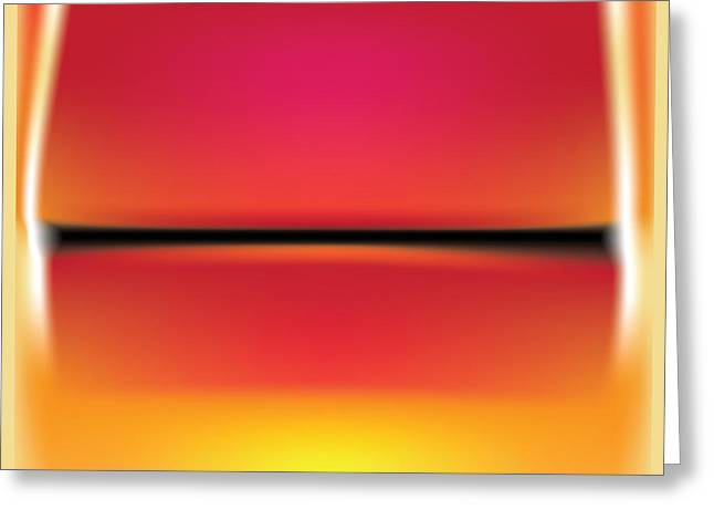 After Rothko Greeting Card by Gary Grayson