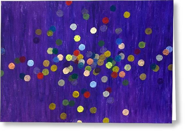 Circle Pastels Greeting Cards - After the Bang Greeting Card by Jacob Stempky