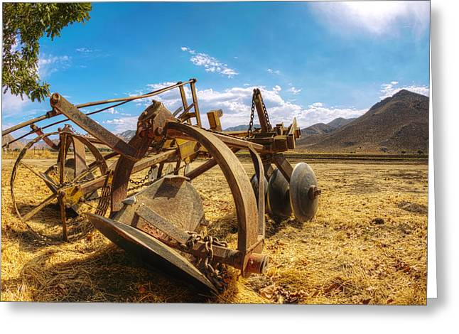 Onyx Greeting Cards - After the Plow Greeting Card by Mike Hill