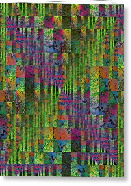 Abstract Rain Greeting Cards - After The Rain 5 Greeting Card by Tim Allen