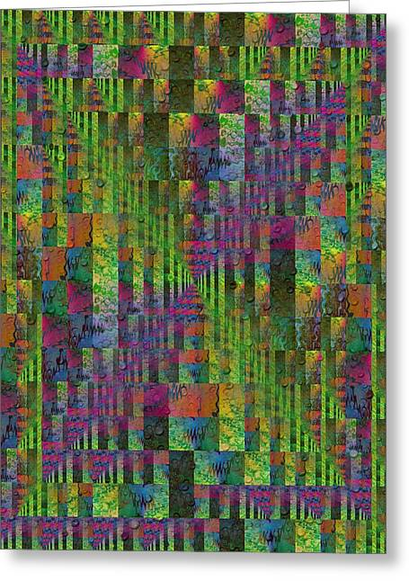 Abstract Rain Greeting Cards - After The Rain 7 Greeting Card by Tim Allen