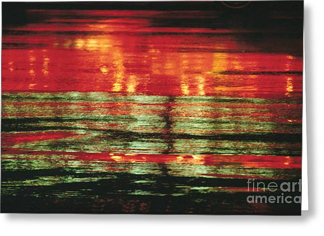 Visual Imagery Greeting Cards - After The Rain Abstract 1 Greeting Card by Tony Cordoza