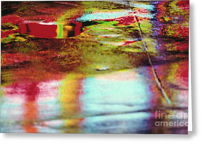 Visual Imagery Greeting Cards - After The Rain Abstract 2 Greeting Card by Tony Cordoza