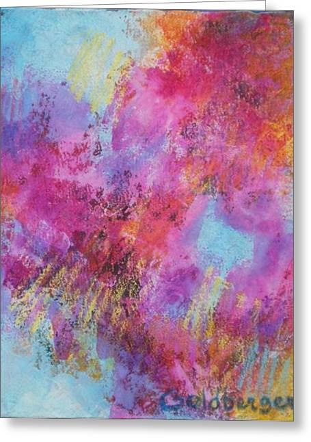 Patch Mixed Media Greeting Cards - After The Rain Greeting Card by Ana Goldberger