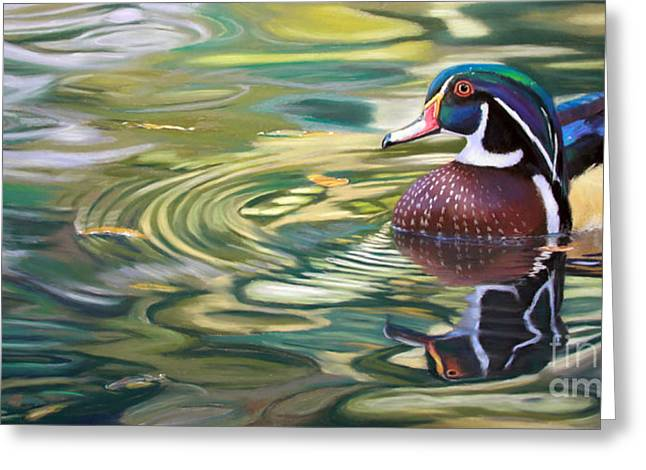 Hunting Pastels Greeting Cards - After the Rain Greeting Card by Deb LaFogg-Docherty