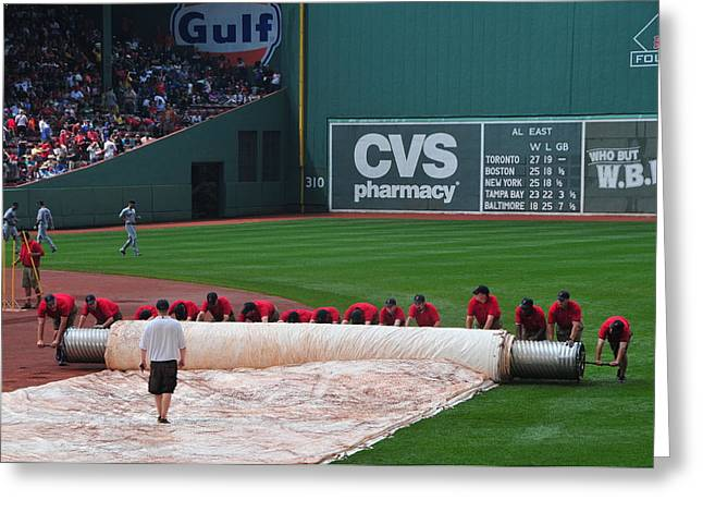 After The Rain Delay Greeting Card by Mike Martin