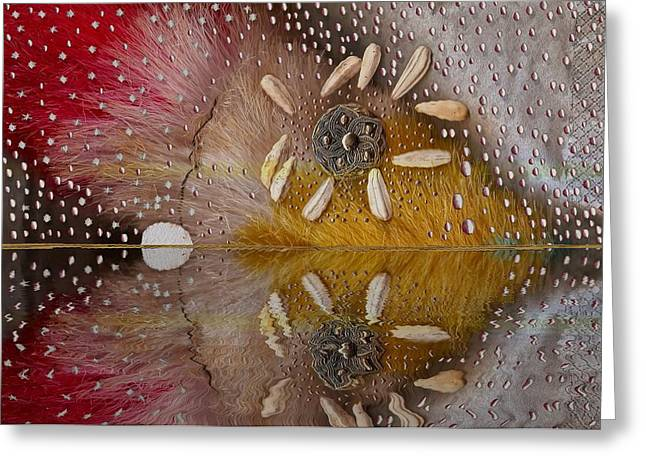 Rain Drop Mixed Media Greeting Cards - After The Rain Greeting Card by Pepita Selles