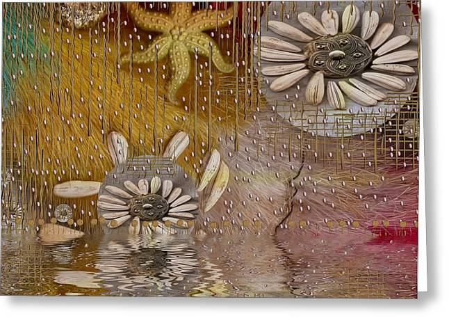 Seastar Greeting Cards - After The Rain Under The Star Greeting Card by Pepita Selles