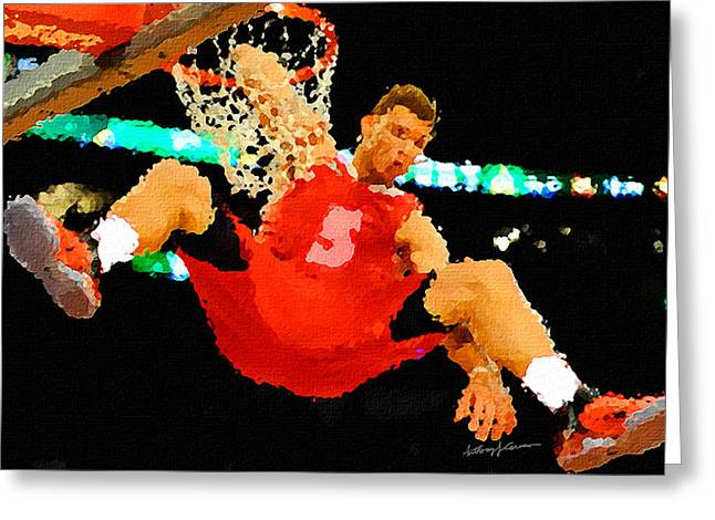 After the Slam Dunk Greeting Card by Anthony Caruso