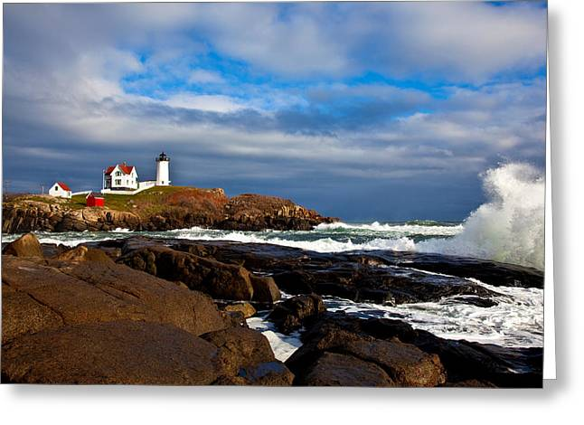 Cape Neddick Greeting Cards - After the Storm Greeting Card by Sara Hudock
