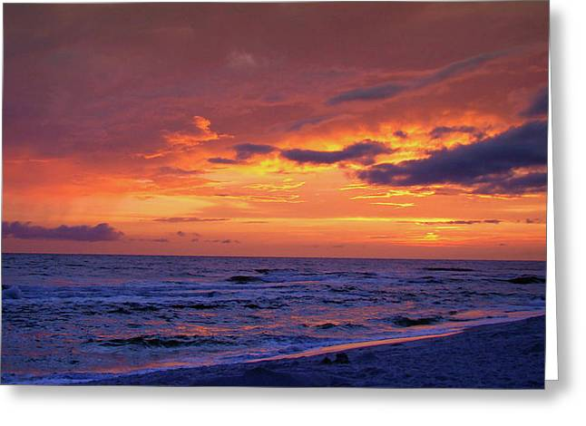 Panama City Beach Fl Greeting Cards - After the Sunset Greeting Card by Sandy Keeton