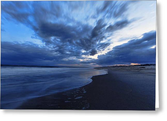 York Beach Greeting Cards - Afterglow on Fire Island Greeting Card by Rick Berk