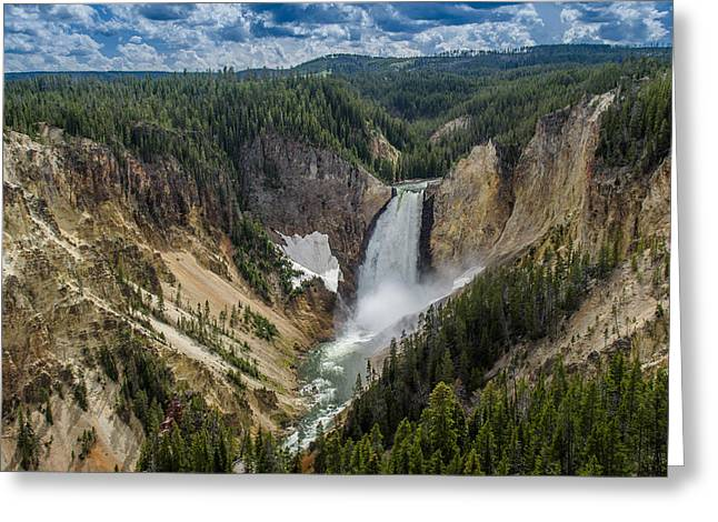 Grand Canyon Of The Yellowstone Greeting Cards - Afternoon at Lower Yellowstone Falls Greeting Card by Greg Nyquist
