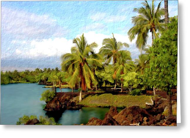 Hawaiian Pond Greeting Cards - Afternoon at Mauna Lani Hawaii Greeting Card by Kurt Van Wagner