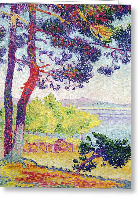 Midi Greeting Cards - Afternoon at Pardigon Greeting Card by Henri-Edmond Cross