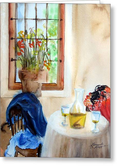 Still Life By Window Greeting Cards - Afternoon Delight Greeting Card by Leonardo Ruggieri