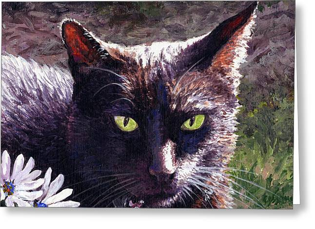 Licorice Paintings Greeting Cards - Afternoon Delight Greeting Card by Lynette Cook