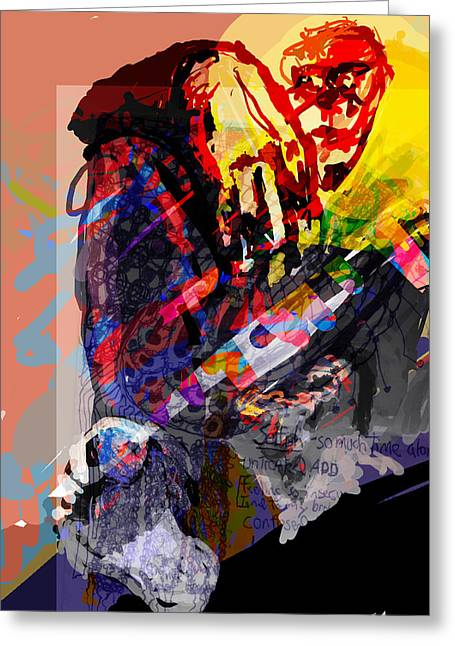 Adhd Greeting Cards - Afternoon Getthrough Greeting Card by James Thomas
