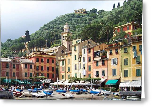 Portofino Italy Greeting Cards - Afternoon in Portofino Greeting Card by Marilyn Dunlap